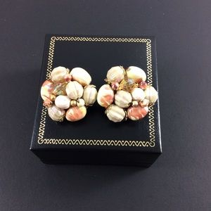 Vintage clip on earrings.